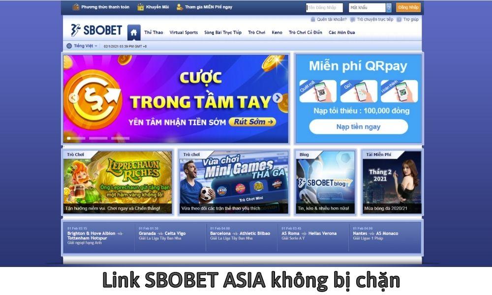 Link SBOBET ASIA không bị chặn